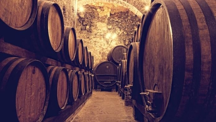 La maturazione del vino